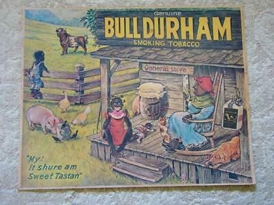 Vintage BULL DURHAM Advertising COUNTRY STORE Tobacco POSTER, Black Americana