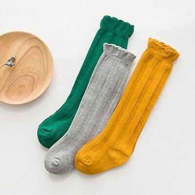 Baby Kids Girls Knee High Socks Bow Toddlers Party School Stockings erousy
