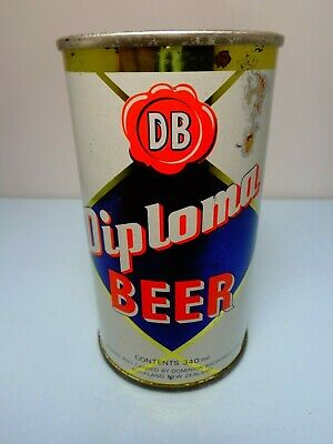 Diploma Straight Steel Pull Tab Beer Can #200  New Zealand