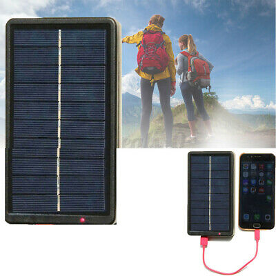 Lit Solar Power Bank Travel Flashlight Camping Dual USB Tablet Phone Charger