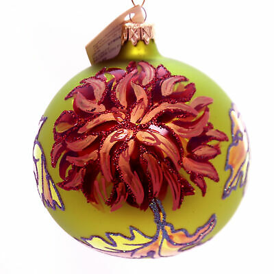 Christina's World MUMS ON FIRE Glass Ball Ornament Flower Spring Flo677