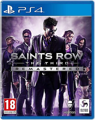 Saints Row The Third Remastered (PS4) Pre Order Console Game Video Game