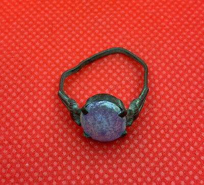 Ancient ring with a beautiful stone Kievan Rus