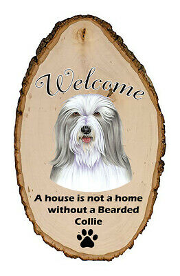 Outdoor Welcome Sign (TP) - Bearded Collie 94170