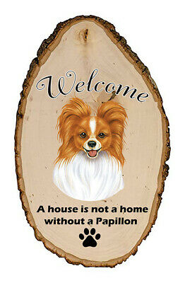 Outdoor Welcome Sign (TP) - Red and White Papillon 94064