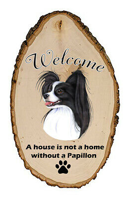 Outdoor Welcome Sign (TP) - Black and White Papillon 94078