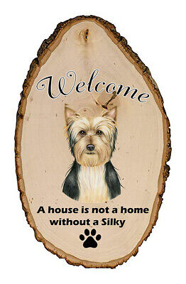 Outdoor Welcome Sign (TP) - Silky Terrier 94102