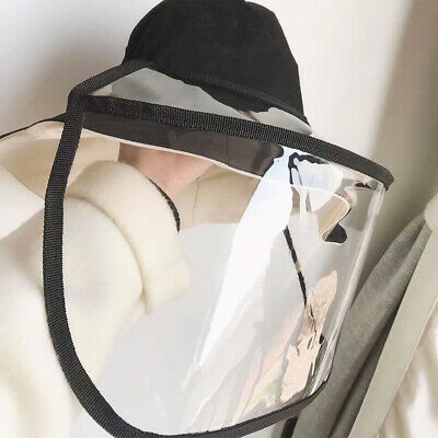 Detachable Anti-spitting Protective Hat Face Shield PVC Baseball Cap Safety Mask