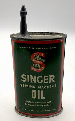 Vintage Singer Sewing machine Oil Can With Spout and cap She Shed Oiliana Vgc