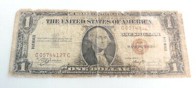 1935 A US Mint $1 Dollar Hawaii WWII Emergency Currency Note ~ Good ~