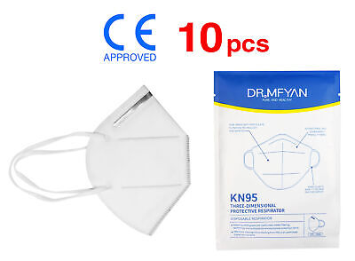 (10) KN95 Particulate Respirator Face Mask On CDC Approved List >95% (PM2.5)
