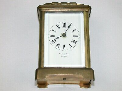 French Brass & Glass Tine Only Carriage Clock. 2F