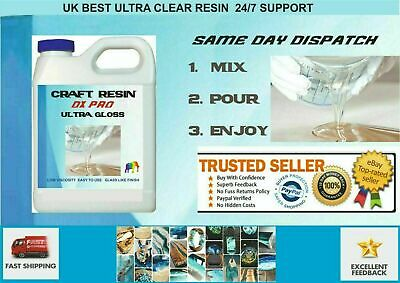 Epoxy 3 kilo Art Resin Starter Kit Glass Clear UV Resistant  crafts