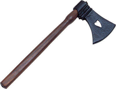 "India Made Tomahawk 230937 13"" overall. Black coated axe head with 3 1/2"" cuttin"