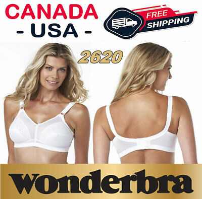 38C 38 85 C Wonderbra 2620 White Blanc Wire Free Full Support Comfort Fit Bra