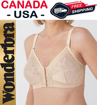 34C 34 75 C Wonderbra 2720 Beige Nude Wire Free Full Support Comfort Fit Bra