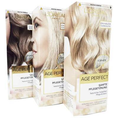 L'Oreal Hair Color Age Perfect Sanfte Pflegetönung Für Reifes Graues Haar, 80ml