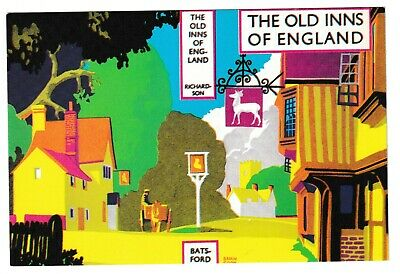 Brian Cook Old Inns Of England By Ae Richardson Book Cover Postcard Batsford