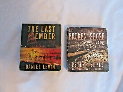 2 Audio books on CD's The Last Ember/Levin/The Broken Shore/Temple