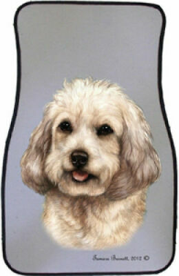 White Cockapoo Car Floor Mats Pair (TB) 36264