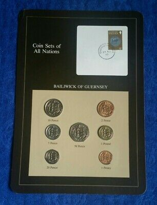 COIN  SETS OF ALL  NATIONS  BAILIWICK OF GUERNSEY 1979 to 1983 BU SET INCL POUND