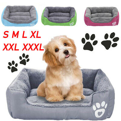 Dog Bed Pet Puppy Faux Fur Fleece Washable Deluxe Cushion S ~~XXL Cat House