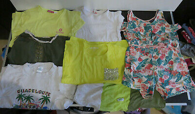 Lot B de 7 vêtements Fille 8 - 10 ans - Printemps Eté