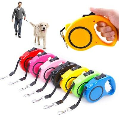 5M Dog Leash Lead Retractable Extending Pet Leashes Dog Collars Lead Tape 15KG