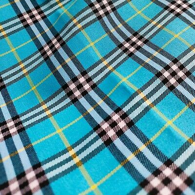 Scotch Large Plaid Woven Cotton Fabric Famous Designer Fabric Inspired