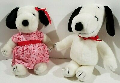 Snoopy and Sister Belle 11 inch plush Vintage 1958/1968