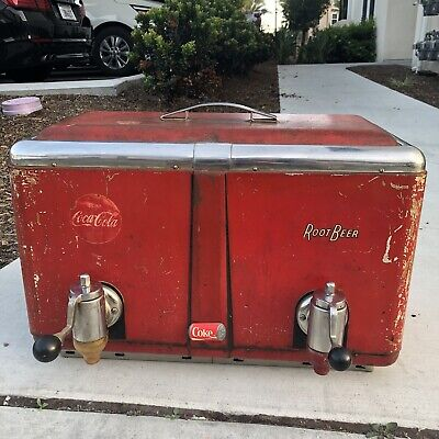 Vintage Coca-Cola And Root beer Multiplex Soda Fountain Original Collectible