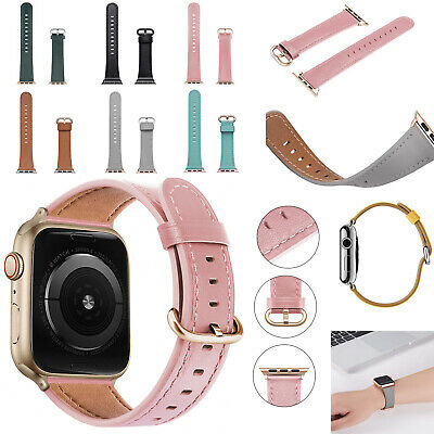 For Apple Watch Genuine Leather Strap iWatch Band 42/38mm Wristband Series 5/4/3