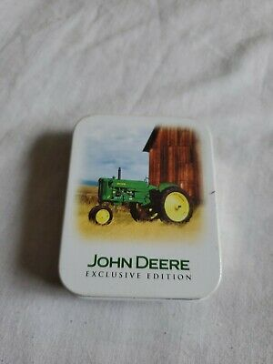 John Deere Pocket Watch 40 Series Exclusive Edition Tin Container-Mint   6055