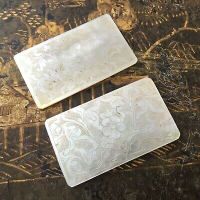 2 Jetons Anciens Nacre Gravée XVIIIè Mother Of Pearl Counter 18thC