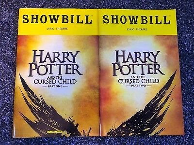 Harry Potter and the Cursed Child Part 1+2 Playbill JK ROWLING Broadway OBC
