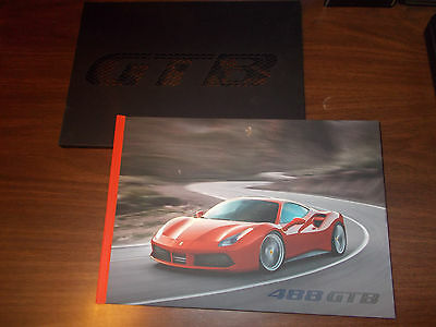 2015 Ferrari 488 GTB Hard-Cover 78-page Sales Catalog with Slipcase/ Nice !
