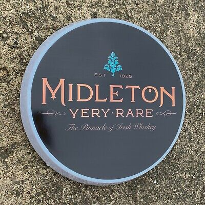 MIDLETON WHISKEY Light up LED bar sign logo Pub Beer Lager ALE man cave home gin