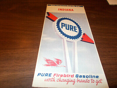 1965 Pure Oil Indiana Vintage Road Map