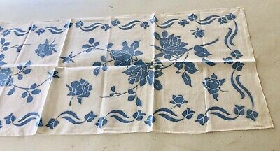 Estate VTG Summer Linen Tablecloth Runner Preowned Unused Table Runner Scarf