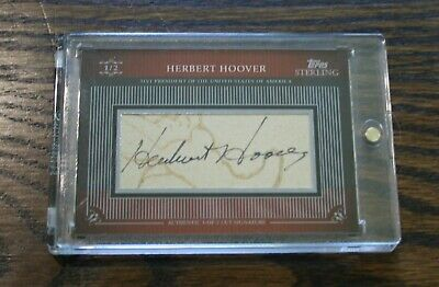 2009 HERBERT HOOVER Topps Sterling SIGNED AUTOGRAPH CUT #1/2