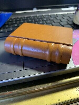 LEVENGER MINI LEATHER BOOK PAPER WEIGHT Super Cool Good CONDITION