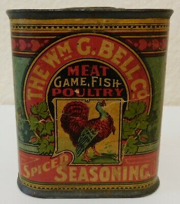 Vintage Bell Co. Spiced Seasoning Advertising Can Tin