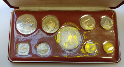 1974 Coins Of The Bahamas SILVER Uncirculated Specimen Set Franklin Mint