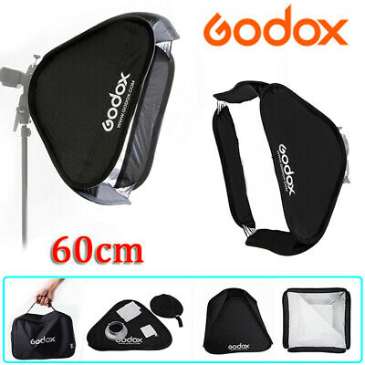 Godox 60cm Collapsible Softbox Diffuser Bowens Mount For Studio Flash Light