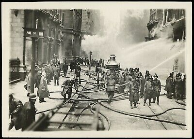 1912 New York City Fire Truck PHOTO Vintage FDNY Department Firefighter Engine