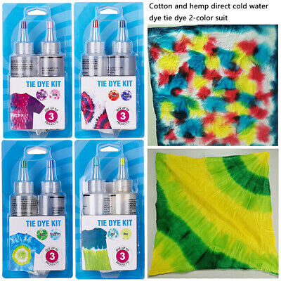NEW DIY Tie Dye Kit Fabric Textile Paint Colours Non-toxic One Step Tie Dye Set