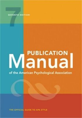 Publication Manual of the American Psychological Association 7th Edition, 2020