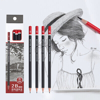 12Pcs Graphite Sketching Pencils Drawing Pencil Set For School Students Supply