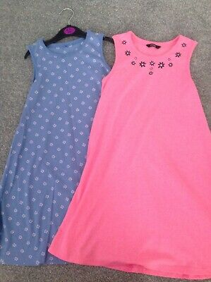 Set Of 2 Girls Summer Dresses George Age 7-8 Years