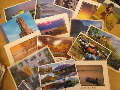 Collection of 15 Scottish / Scotland Postcards -  All Different - NEW and Unused